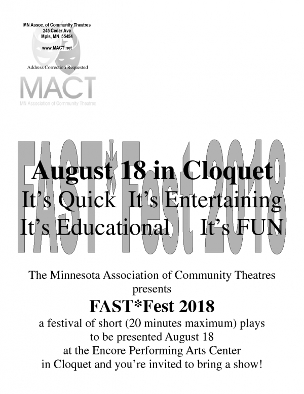 Theatre Registration Flyer front