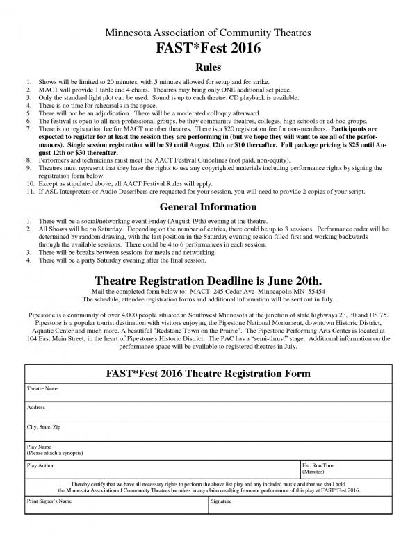 Theatre Registration Flyer